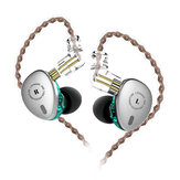 KBEAR KB06 2BA + 1DD Enheder Metal HiFi Sport In Ear Earphone 3.5mm Super Bass Music Ørepropper med 2in kabel til KBEAR F1 KB10