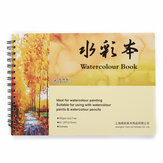A4 24 Pages Watercolour Paper Art Sketchbook Pad Journal Drawing Paint Book Stationery Painting Supplies
