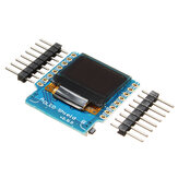 لوحة التوسع Geekcreit® OLED Shield V2.0.0 لـ D1 Mini 0.66 بوصة 64x48 IIC I2C Two Button