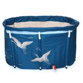Banheira Banheira de água dobrável interna externa portátil adulto balde de banheira de hidromassagem azul