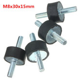 4pcs M8 30mmx15mm Rubber Mounts Shock Absorber Vibration Isolator Mounts
