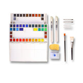 Marie's 18/24/36 Colors Solid Watercolor Paints Set Drawing Painting School Art Supplies Stationery