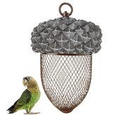 Karmnik dla ptaków z żelaza Wisząca siatka do karmienia Siatka w kształcie nakrętki Park Garden Pet Bird Supplies