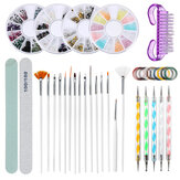 37Pcs Ногти Art Гель Дизайн Ручка Painting Polish Кисти Dotting Drawing Набор Set