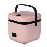 JWS-6661B Rice Cooker 200W 1.2L Capacity Non-Stick Coating Portable Rice Cooking Machine Steamer