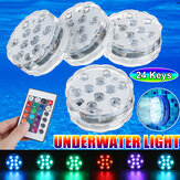 4PCS Multicolore Infrarosso LED Luce da immersione per piscina remoto Control Pond Party Underwater lampada