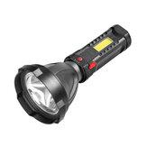 XANES® W5100 100LM USB Şarj Edilebilir LED COB Yan Işıklı El Feneri 3 Mod Su Geçirmez Outdoor Balıkçılık Fener Lamba