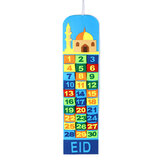 أطفال هدية مسجد رمضان تقويم مجيء 30 جيب عيد مبارك ديكور المنزل DIY