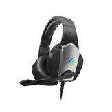 Tuner A1 Gaming Headset 7.1 Channel 50mm Unit 90° Rotatable Microphone RGB Light Effect Scalable Design Noise Reduction Protein Leather Earmuffs