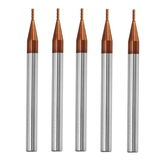 Drillpro 5 stks 1mm 4 Fluiten Tungsten Carbide End Mill Cutter HRC55 AlTiN Coating End Mill Cutter