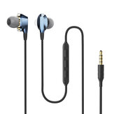 BlitzWolf® AIRAUX AA-HE2 Dual Dynamic Drivers Magnetic Earphone 3.5mm Wired Control Earbuds Stereo Bass In Ear Headset With Mic