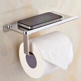 Wall Mounted Bathroom Toilet Paper With Phone Holder Rack Tissue Roll Stand Home