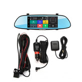 iMars 7 Inch Car Rear View Mirror Dash Camera HD 1080P Android Dual Lens DVR Camera 3G WIFI GPS