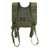Military Tactical Adjustable H-Harness Suspenders Tactical Vest for Shoulder Battle Belt Green