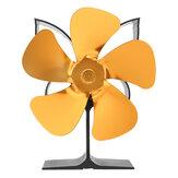 Ventilateur de cheminée à 5 lames ventilateur de poêle alimenté par la chaleur moteurs silencieux ventilateur de poêle Eco pour poêles à bois à granulés de gaz