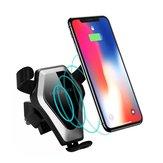 Qi Wireless 10W Carga rápida Gravity Auto cerradura Coche Soporte para teléfono con ventilación de aire para iPhone 8 X