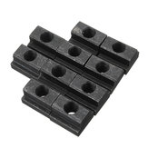 Machifit 10pcs M8 T Slot Nuts Set Black Oxide Finish T-slots Nut For T Track