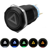 19mm 12V LED Push Button On Off Hazard Warning Signal Light Switch For Car Lorry Boat