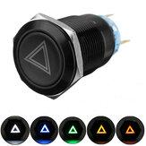 19 мм 12V LED Нажимная кнопка Вкл. Выкл. Сигнальный выключатель сигнальной лампы опасности для Авто Грузовик Лодка