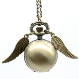 Golden Wings Snitch Quartz Collier de montre de poche