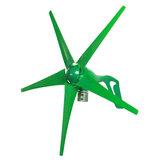 12 V / 24 V 5 ostrzy 1800W Szczyt zielony Poziomy generator turbiny wiatrowej z kontrolerem ładowania