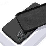 Bakeey para Xiaomi Redmi Nota 10 Pro/Redmi Nota 10 Pro Max Caso Suave à prova de choque com lente Protector Soft Líquido Silicone Borracha Protetiva Caso Não original