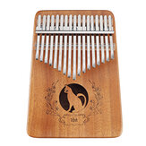 17 Keys Kalimbas Thumb Piano African Rosewood Mahogany Whole Board Finger Piano Student Beginner Musical Instrument