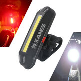 XANES 2 i 1 500LM Cykel USB Rechargeable LED Bike Light Bakljus Ultralight Warning Night