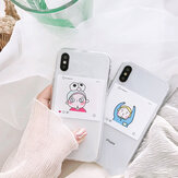 Fashion Ins Cartoon Inbetweening Pattern Transparant schokbestendig TPU beschermhoes voor iPhone X/XS / XR / XS Max / 6/7/8 / 6S Plus/6 Plus/7 Plus/8 Plus