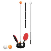 0.9-1.1 m 3 Engrenagem Ajustável Instrutor De Tênis De Mesa Crianças Jogo da Família Esporte Tênis de Mesa Máquina de Prática de Recuperação Com 6 Pcs Tênis de Mesa