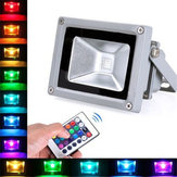 10W Controle Remoto RGB ao ar livre LED Flood Light Waterproof Wall Washer Lamp AC100-245V