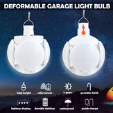Solar Powered Deformable Outdoor LED Light Bulb Folding Ceiling Work Football UFO Lamp