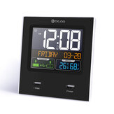 [2019 Third Digoo Carnival] Digoo DG-C3X Time Calendar 12hr/24hr Format Switchable Temperature Humidity Display Dual Alarms Snooze Function NAP LED Backlight Alarm Clock with 2 USB