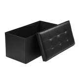 Multifunctional Storage Stool Leather Sofa Ottoman Bench Footrest Box Seat Footstool Square Chair Home Office Furniture