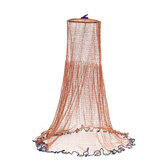 ZANLURE 3.6M Cast Fishing Net American Style Throwing Fishing Network Strong Nylon Line With Sinker