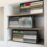 [Tamanho grande] 3life Armazenamento doméstico dobrável Bolsa Cobertores de roupas Cestas Suéter Armazenamento de edredom Caixa Organizador