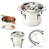 10L 2Gal Home DIY Alcohol Distiller Moonshine Ethanol Copper Still Stainless Kit Still Stainless Brewing Equipment