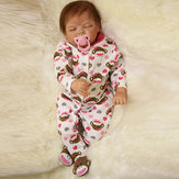 22inch Reborn Baby Doll Silikon Handgjorda Lifelike Girl Play House Toy