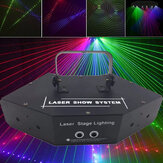 LED RGB Six-eye Scanning Laser Beam Stage Light Lighting Laser Strobe Beam Disco Party KTV Projector Lamp