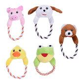Cachorro Brinquedos para gatos Pets Puppy Interactive Plush Chew Squeaker Sound Toy
