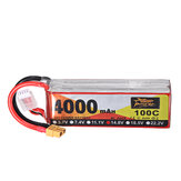 ZOP Power 14.8V 4000mAh 100C 4S Lipo Battery XT60 Plug for RC Racing Drone