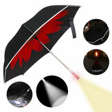 UB-3 Double Layer Reverse Umbrella Reflective SOS LED Windproof Auto Open UV Protection Umbrel