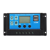 10/20/30/40A 12V 24V Auto Solar Charge Controller Dual USB Light &Time Control LED Indicator