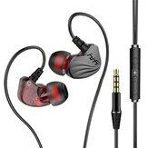 Bakeey S2000 6D Surround Bass Wire Headphones IPX5 Waterproof Sweatproof Sport Headset Comfort Beat Drums In Ear Earphones