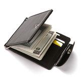 Men Faux Leather Creative Money Clip Wallet