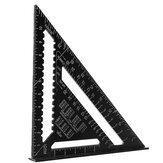 Drillpro 7Inch/12Inch Triangular Measuring Ruler Aluminum Alloy Metric/Imperial Triangle Angle Protractor