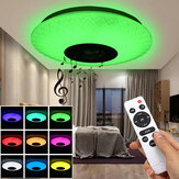120W RGB Music Coloured LED Ceiling Light Dimmable Lamp bluetooth + APP Control