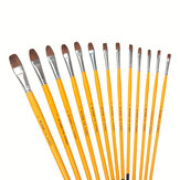 Yellow Pole Gouache Paint Brush Set Art Watercolor Paint Brushes Set Pen Acrylic Painting Student Art Suit
