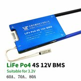 4S 12V LiFe Po4 Battery 3.2V Power Protection Board 60A 70A 80A with Temperature Protection Equalization Function Overcurrent Protection BMS Battery Protection Board