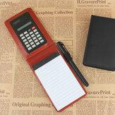 RuiZe Creative Pu Leder Tagebuch A7 Planer Multifunktions Tasche Mini Notebook mit Taschenrechner